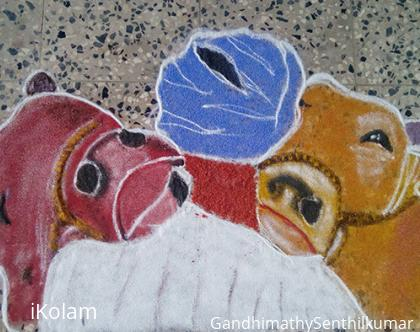 Rangoli: Heart touched pic into  rangoli