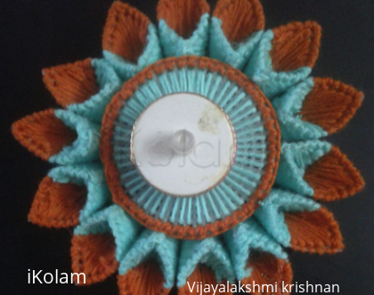 Rangoli: Canvas embroidery