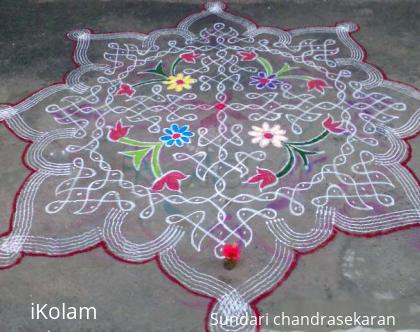 Rangoli: circular kolam