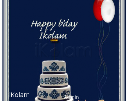 Rangoli: Happy Birthday iKolam!
