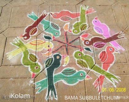 Rangoli: Group of birds rangoli