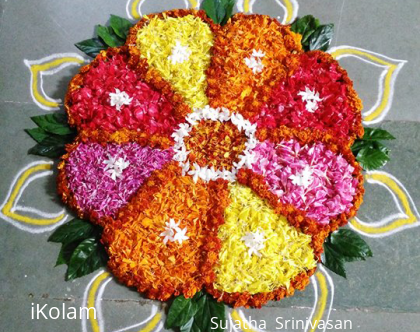 Rangoli: Pookalams for Onam 2015