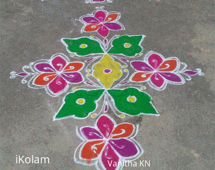Rangoli: Ugadi rangoli made by me :-)