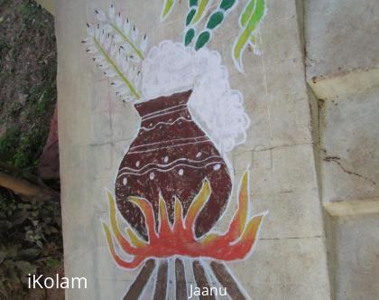 Rangoli: Jaanu - Margazhi dew drops kolam 2