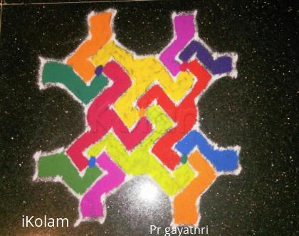 Rangoli: Margazhi Kolam #8