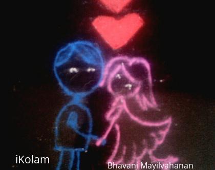 Rangoli: Valentines Day 2017
