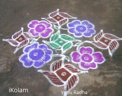 Rangoli: Star flower kolam