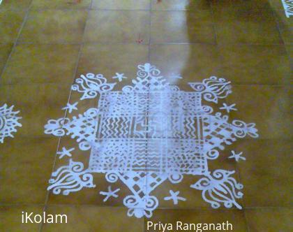 Rangoli: Thiruvona Vilakku Poojai Kolam