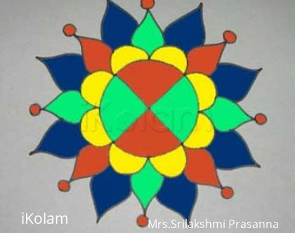 Rangoli: simple rangoli on tiles