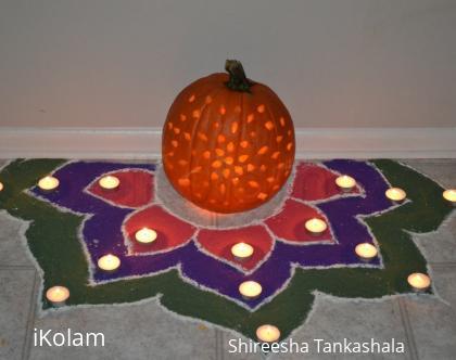 Rangoli: Halloween Kolam