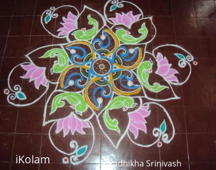 Rangoli: rangoli during varamahalakshmi pooja