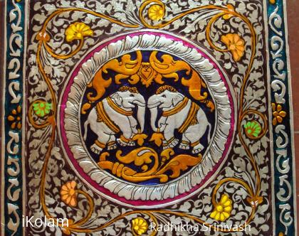 Rangoli: Kinnal art work