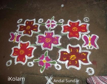 Rangoli: new year kolam - neighbour