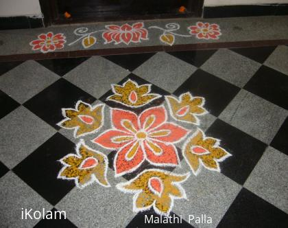 Rangoli: Small rangoli for flats