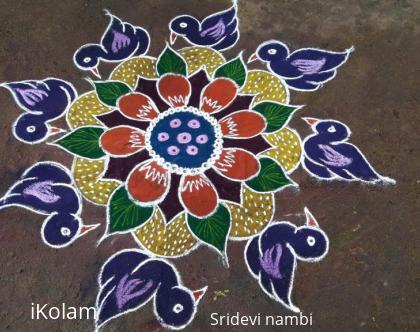 Rangoli: Birds...rangoli