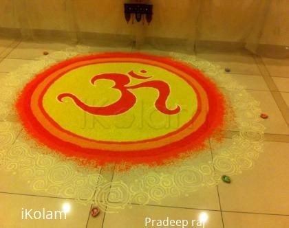 Rangoli: Divine Om