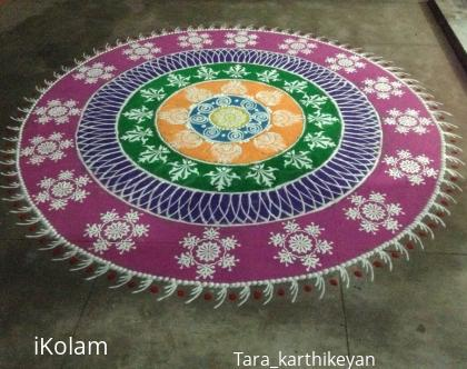 Rangoli: New year sanskar bharathi debut rangoli