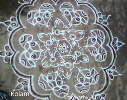 Rangoli: Karthigai Deepam Kolam Morning