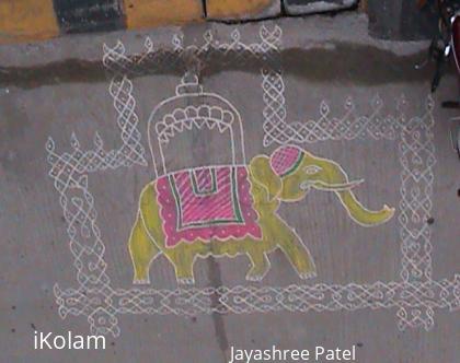 Rangoli: Dasara Kolam
