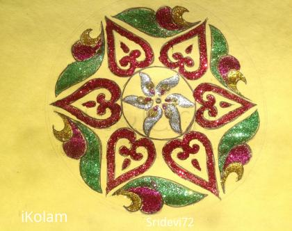 Rangoli: Glittered freehand rangoli