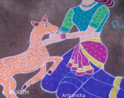 Rangoli: Girl With Deer