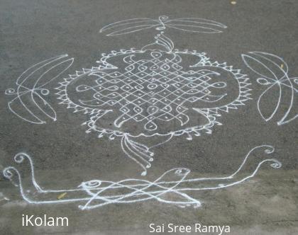 Rangoli: Krishnashtami kolam