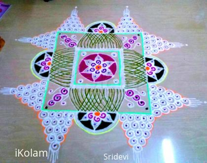 Rangoli: B'day dedication kolam
