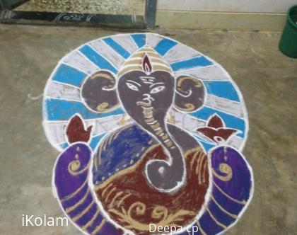Rangoli: Ganesha