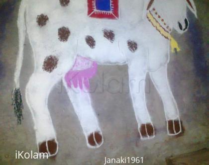 Rangoli: Free hand Rangoli for Mattu pongal