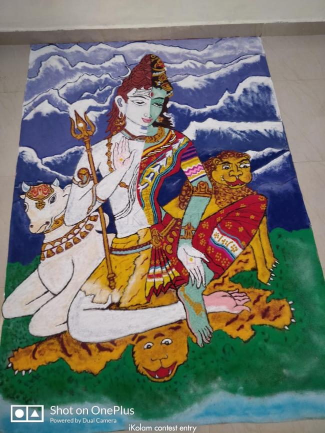 Finished Rangoli