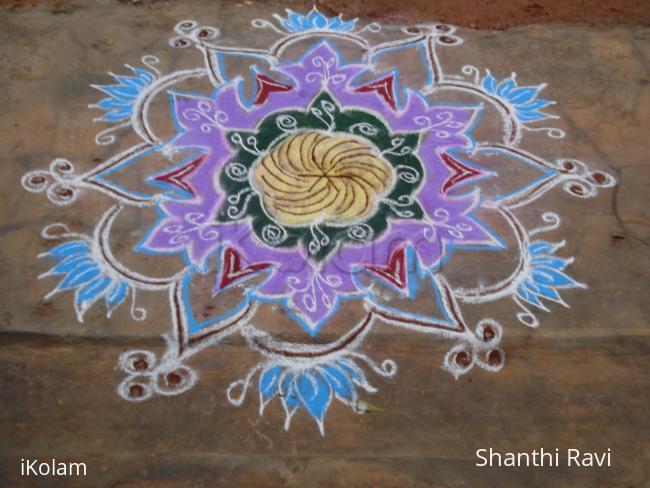 Rangoli: freehand colour rangoli