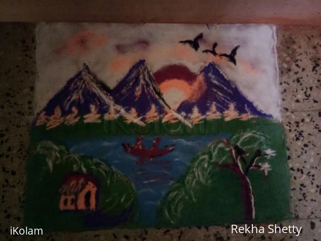 Rangoli: My Diwali rangoli done on first day