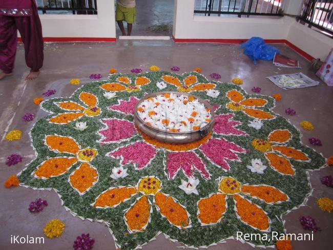 Rangoli: athapoo kolam