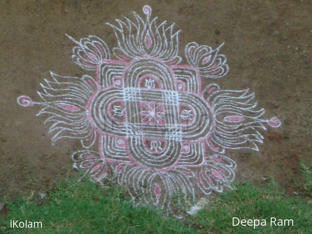 Rangoli: last of pink kaavi !
