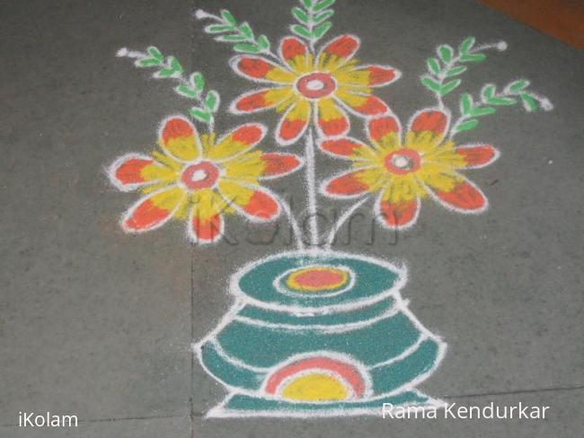 Rangoli: free hand rangoli created by myself (rama)