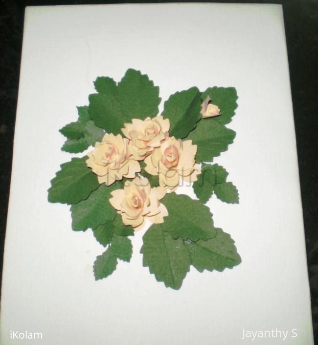 Rangoli: Rose card
