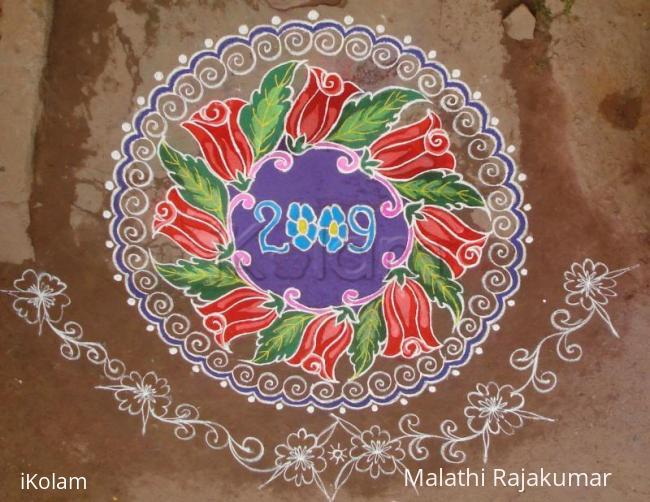 Rangoli: Rose garland
