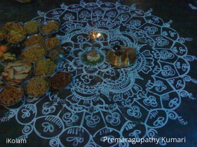 Rangoli: Krishna jayanthi - sweets and snacks