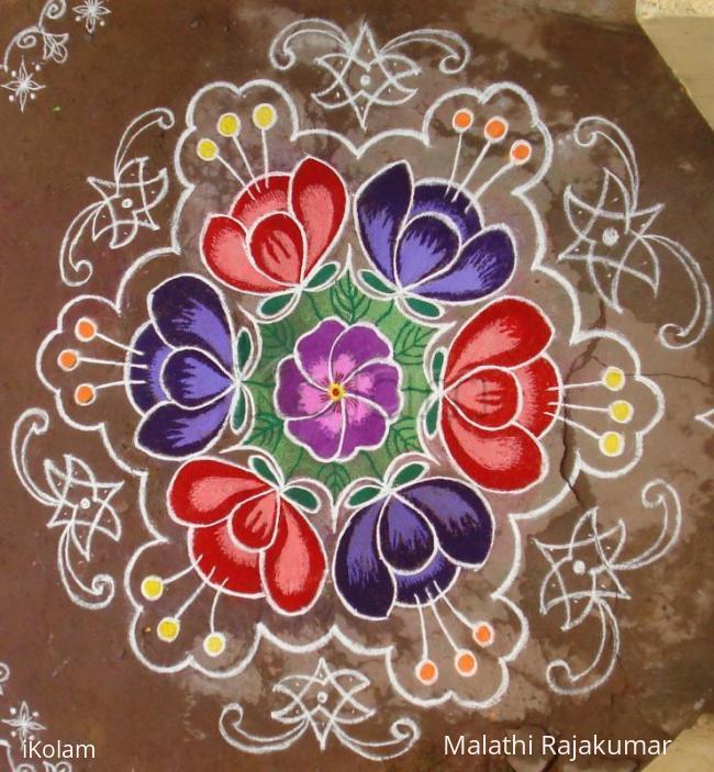 Rangoli: Flower pond