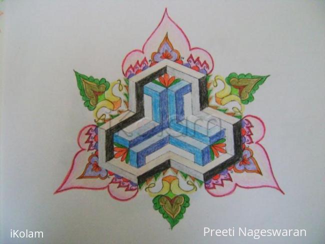 Rangoli: Variation of Geometric kolam 2