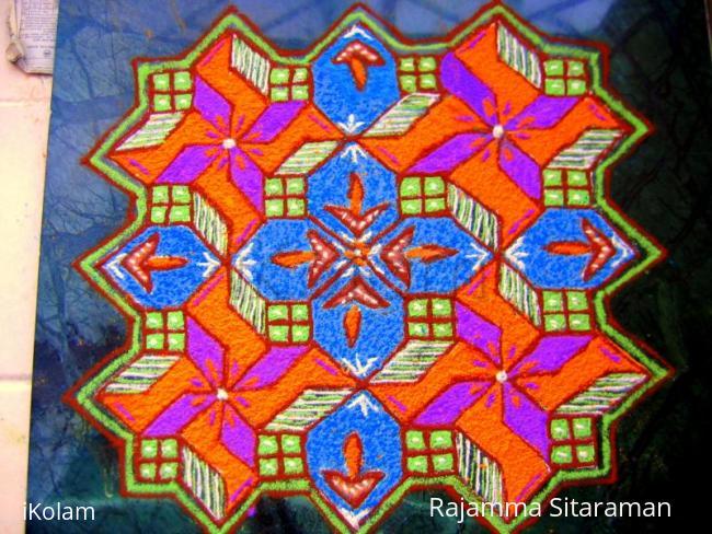 Rangoli: Windows kolam