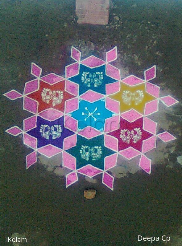 Rangoli: pongal kolam-3