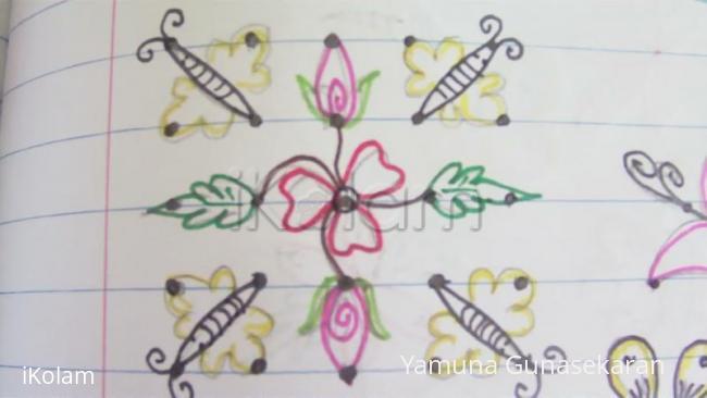Rangoli: Buds n Butterflies beginners kolam