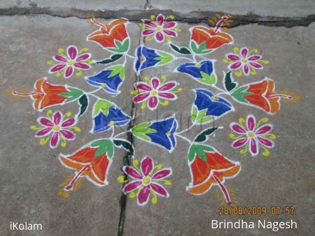 Rangoli: Bluebells - Brindha