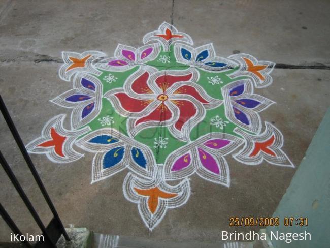 Rangoli: Navrathri Kolam