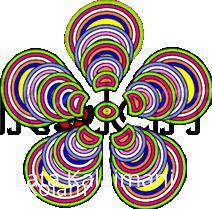 Rangoli: Rainbow rangoli