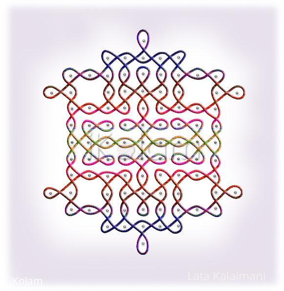 Rangoli: Color schemes: multi-colored strokes rangoli
