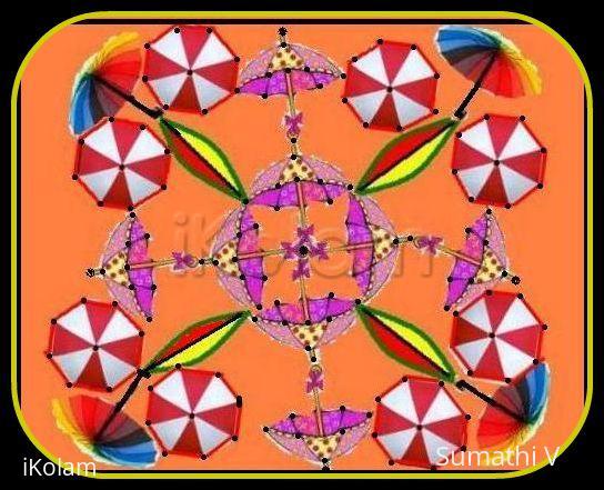 Rangoli: Umbrella Dance