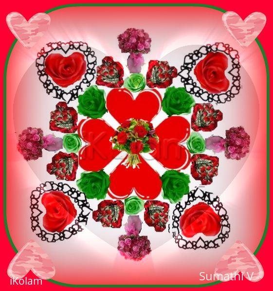 Rangoli:  Valentine Day Wishes
