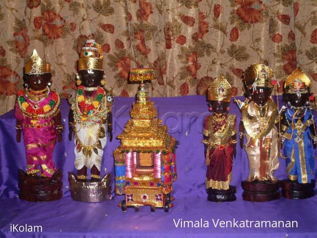 Rangoli: Marapaachi dolls for Golu